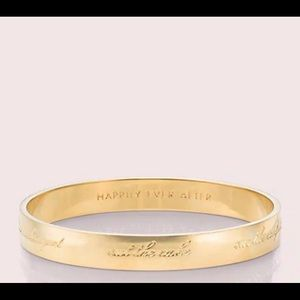 """Kate Spade Bride """"Happily Ever After"""" Bangle"""